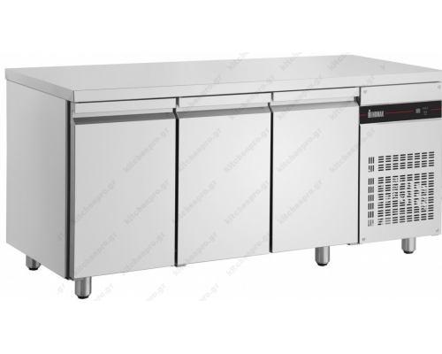 Επαγγελματικό Ψυγείο Πάγκος Συντήρηση 179 x 60 εκ. με 3 Πόρτες PMR999/GL INOMAK Eλλάδος