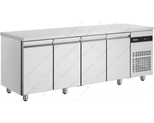 Επαγγελματικό Ψυγείο Πάγκος Συντήρηση 224 x 60 εκ. με 4 Πόρτες PMR9999 INOMAK Eλλάδος