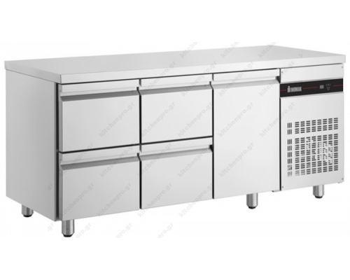 Επαγγελματικό Ψυγείο Πάγκος Συντήρηση 179 x 70 εκ. με 4 Συρτάρια & 1 Πόρτα PNR229 INOMAK Ελλάδος