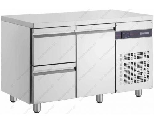 Επαγγελματικό Ψυγείο Πάγκος Συντήρηση 134.55 x 70 εκ. με 2 Συρτάρια & 1 Πόρτα PNR29 INOMAK Eλλάδος