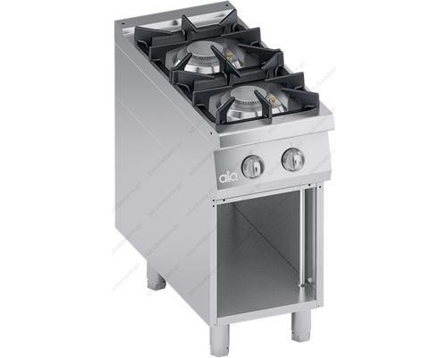 Επαγγελματική Κουζίνα Αερίου 2 Εστιών + Ερμάριο S900 40 x 90 εκ. K4GCUS05VV ATA srl Ιταλίας