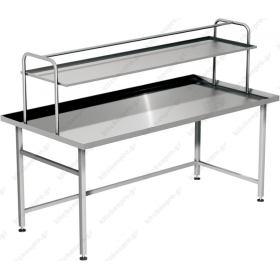 Τραπέζι Παραλαβής Απλύτων με Ράφι Παραλαβής 2 Όψεων 255 εκ