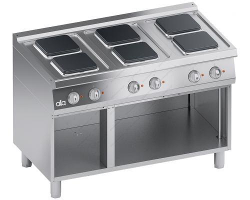 Επαγγελματική Κουζίνα 6 Εστιών & Ερμάριο 120 x 70 εκ. K7ECU15VVQ S700 ATA srl Ιταλίας