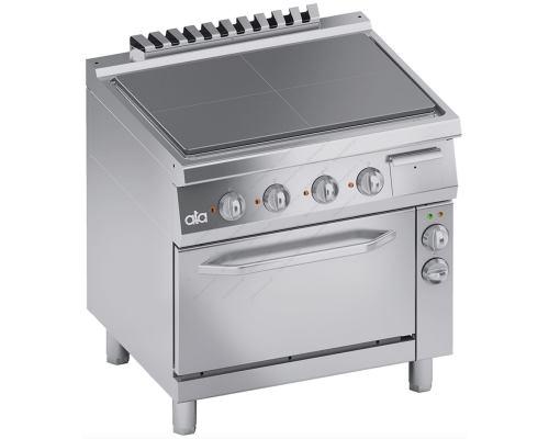 Επαγγελματική Ηλεκτρική Κουζίνα Ενιαίας Πλάκας + Φούρνος S900 90 x 90 εκ. K9ETP10FF ATA srl Ιταλίας