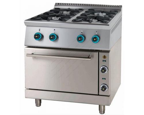Κουζίνα με 4 Εστίες Αερίου και Ηλεκτρικό Φούρνο FC4GFES7 SERGAS Ελλαδας