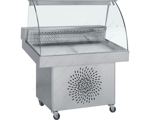 Επαγγελματικό Ψυγείο Βιτρίνα Προβολής Ψαριών 110 x 85 εκ. FO110 BAMBAS Ελλάδος
