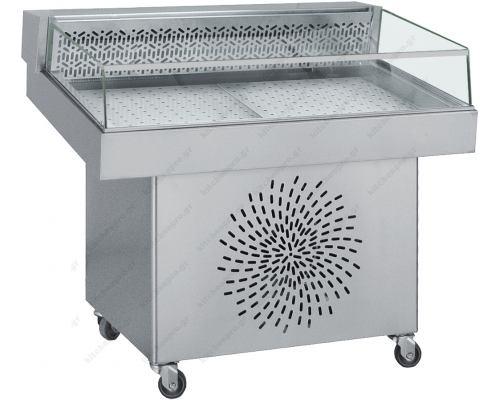Επαγγελματικό Ψυγείο Βιτρίνα Προβολής Ψαριών 150 x 80 εκ. BAMBAS Ελλάδος