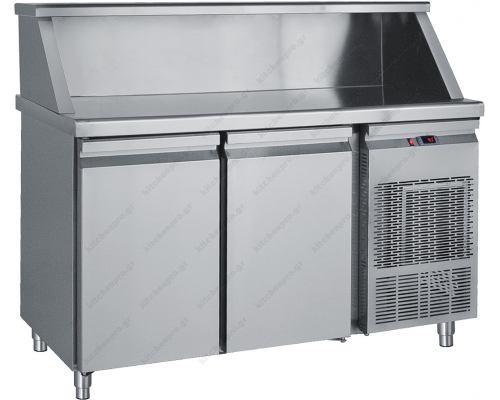 Επαγγελματικό Ψυγείο Πάγκος - Συντήρηση 155 x 70 εκ. 2 Πόρτες MM155 BAMBAS Ελλάδος