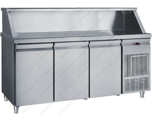 Επαγγελματικό Ψυγείο Πάγκος - Συντήρηση 185 x 70 εκ. 3 Πόρτες MM185 BAMBAS Ελλάδος