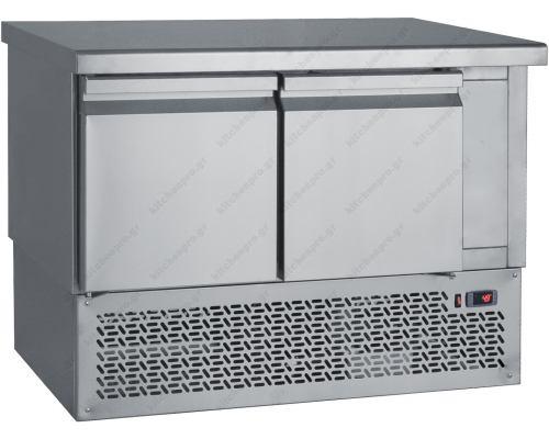 Επαγγελματικό Ψυγείο Πάγκος-Συντήρηση 110 x 70 εκ. με 2 Πόρτες GN 1/1 PG110 BAMBAS Ελλάδος