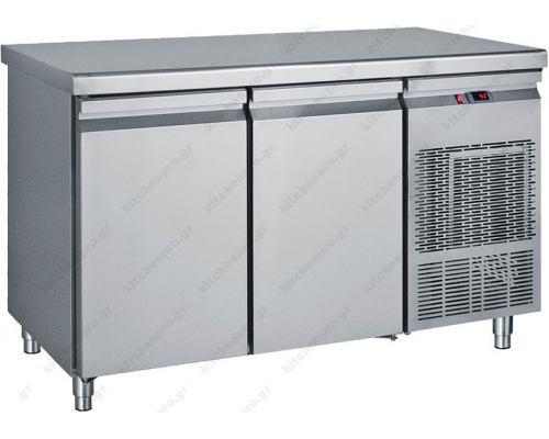 Επαγγελματικό Ψυγείο Πάγκος-Συντήρηση 139 x 70 εκ. με 2 Πόρτες GN 1/1 PG139 BAMBAS Ελλάδος