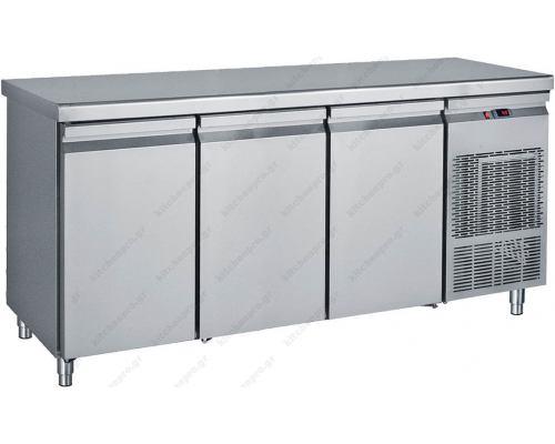 Επαγγελματικό Ψυγείο Πάγκος-Συντήρηση 185 x 70 εκ. με 3 Πόρτες GN 1/1 PG185 BAMBAS Ελλάδος