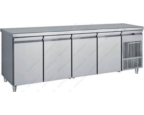 Επαγγελματικό Ψυγείο Πάγκος - Συντήρηση 239 x 70 εκ. 4 Πόρτες GN 1/1 PG239 BAMBAS Ελλάδος