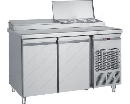 Ψυγείο Πίτσας Σαλατών - Συντήρηση 155 x 70 εκ. 2 Πόρτες GN 1/4 PIM155 BAMBAS Ελλάδος