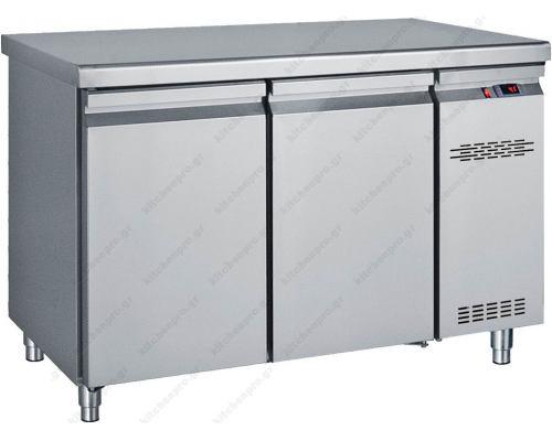 Επαγγελματικό Ψυγείο Πάγκος - Συντήρηση 124 x 70 εκ. Χωρίς Μηχάνημα με 2 Πόρτες GN 1/1 PK124 BAMBAS Ελλάδος