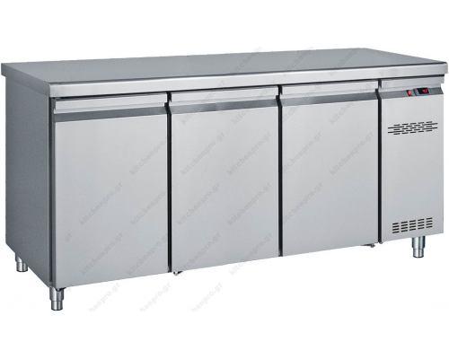 Επαγγελματικό Ψυγείο Πάγκος-Συντήρηση 170 x 70 εκ. Χωρίς Μηχάνημα με 3 Πόρτες GN 1/1 PK170 BAMBAS Ελλάδος