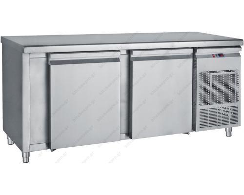 Επαγγελματικό Ψυγείο Πάγκος - Συντήρηση 155 x 60 εκ. 2 Μεγάλες Πόρτες GN PM6155 BAMBAS Ελλάδος