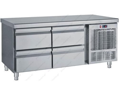 Επαγγελματικό Ψυγείο Πάγκος - Συντήρηση (Βάση Μηχανημάτων) 139 x 70 εκ. 4 Συρτάρια GN 1/1 PS139 BAMBAS Ελλάδος