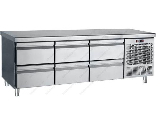 Επαγγελματικό Ψυγείο Πάγκος - Συντήρηση (Βάση Μηχανημάτων) 185 x 70 εκ. 6 Συρτάρια GN 1/1 PS185 BAMBAS Ελλάδος