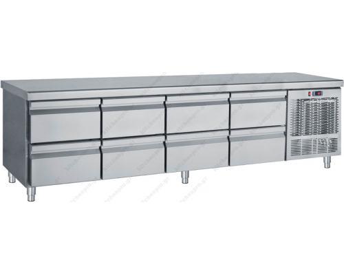 Επαγγελματικό Ψυγείο Πάγκος - Συντήρηση (Βάση Μηχανημάτων) 239 x 70 εκ. 8 Συρτάρια GN 1/1 PS239 BAMBAS Ελλάδος