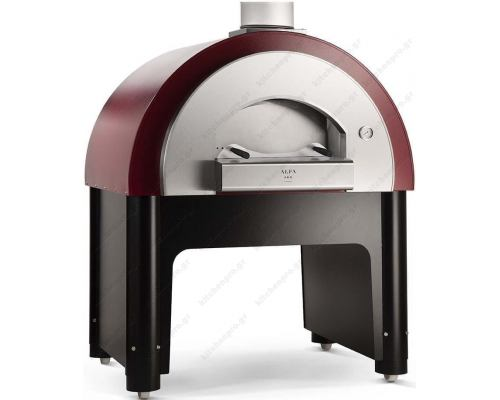 Χειροποίητος Θολωτός Φούρνος Πίτσας Αερίου & Ξύλου 6 Πίτσες 35 εκ QUICK, ALFA Ιταλίας
