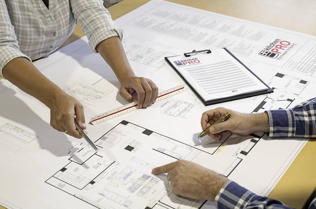 Μελέτη & σχεδιασμός επαγγελματικής κουζίνας - επαγγελματικού εξοπλισμού μαζικής εστίασης